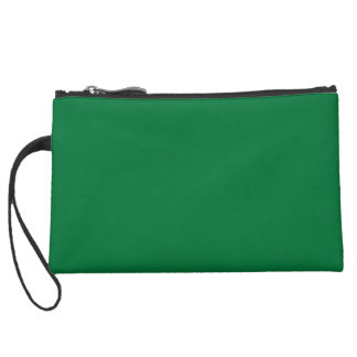 COLLEGE GREEN after a school that cannot be named! Suede Wristlet Wallet