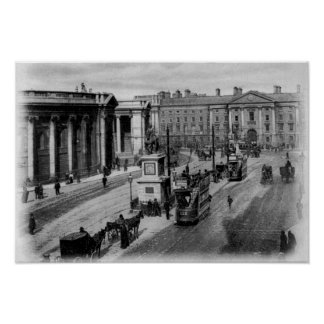 College Green, Dublin, c.1900 Poster