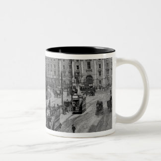 College Green, Dublin, c.1900 Two-Tone Coffee Mug
