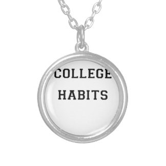 College Habits Silver Plated Necklace