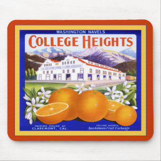 College Heights Brand Oranges ~ Vintage Fruit Mouse Pad
