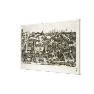 College Henri IV and the Lycee Napoleon, 1864 Stretched Canvas Print
