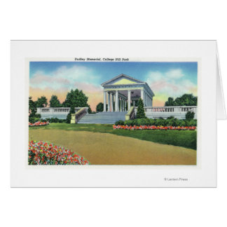 College Hill Park View of Dudley Memorial Card
