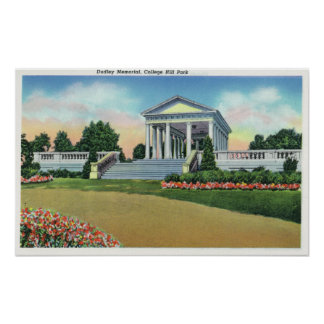 College Hill Park View of Dudley Memorial Poster