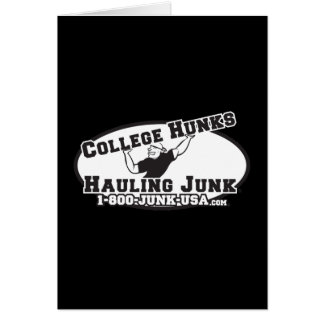 College Hunks Hauling Junk Black and White Card