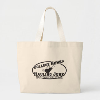 College Hunks Hauling Junk Black and White Large Tote Bag