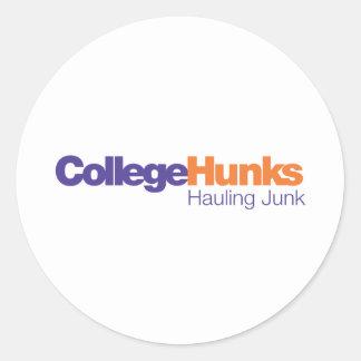 College Hunks Hauling Junk Classic Round Sticker