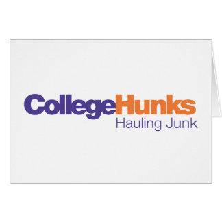 College Hunks Hauling Junk Greeting Card
