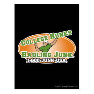 College Hunks Hauling Junk Official Logo Postcard