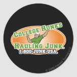 College Hunks Hauling Junk Official Logo Round Sticker