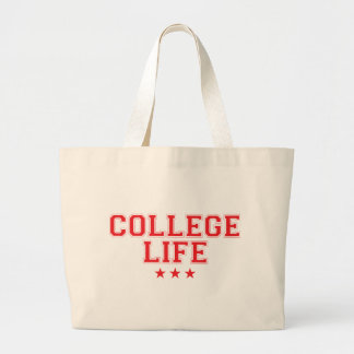 College Life - Red Large Tote Bag