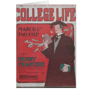 College Life Stationery Note Card