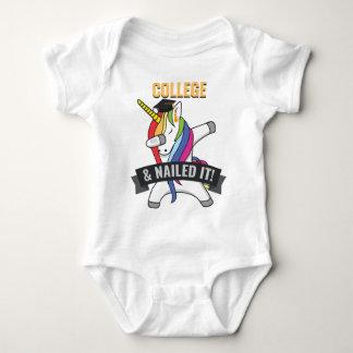 COLLEGE Nailed It Unicorn Dabbing Graduation Baby Bodysuit