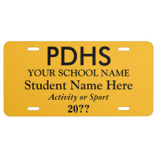 College or High School Student License Plate