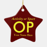 College or High School Varsity Letter Keepsake Ornament