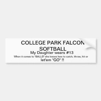 College Park Softball Bumper Sticker