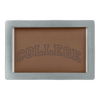 College Rectangular Belt Buckle