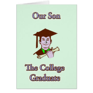 College Son College Graduation Card