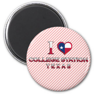 College Station, Texas 2 Inch Round Magnet