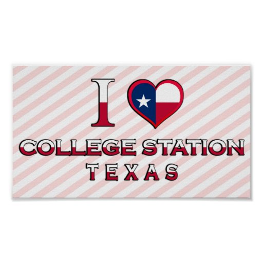 College Station, Texas Poster