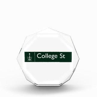 College Street, Sidney, Australian Street Sign Acrylic Award