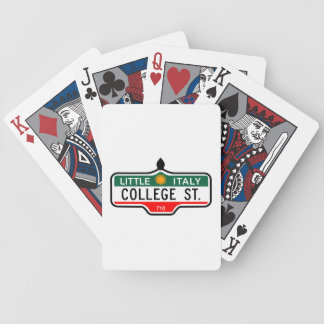 College Street, Toronto Street Sign Poker Deck