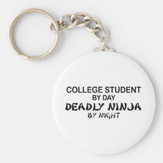 College Student Deadly Ninja by Night Basic Round Button Keychain