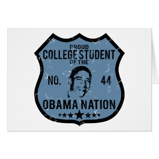 College Student Obama Nation Card
