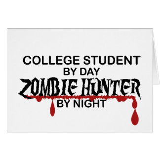College Student Zombie Hunter Card