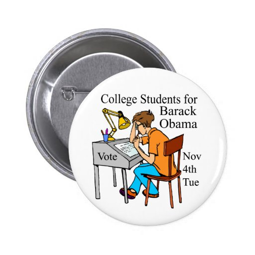 COLLEGE STUDENTS FOR OBAMA GIANT BUTTON