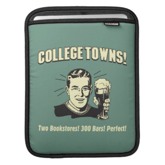College Towns: 2 Bookstores 300 Bars Sleeve For iPads