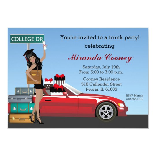 College trunk party going away graduation invitation zazzle college trunk party going away graduation invitation filmwisefo