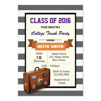 Trunk Party Invitations Announcements Zazzle