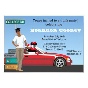 graphic about Printable Trunk Party Games named Trunk Bash Invites Zazzle