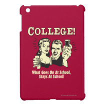 College: What Goes On School Stays Case For The iPad Mini