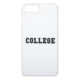 College with Black Lettering iPhone 8 Plus/7 Plus Case