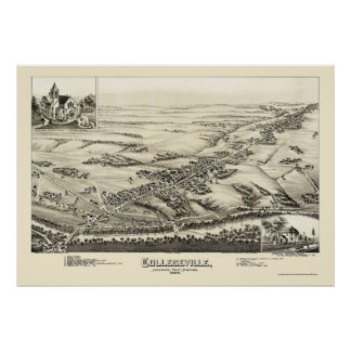 Collegeville, PA Panoramic Map - 1894 Poster