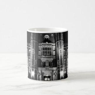 Collegiate Gothic Building Lit at Night Coffee Mug