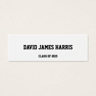Collegiate graduation insert class of name card