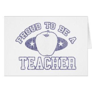 Collegiate Proud Teacher Greeting Cards