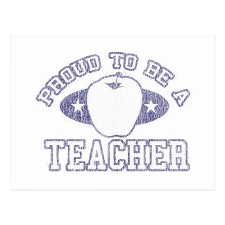 Collegiate Proud Teacher Postcard