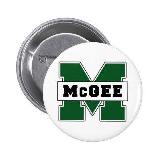 Collegiate-Style McGee Logo Pinback Button