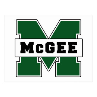 Collegiate-Style McGee Logo Postcard