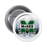 "Collegiate Style Metallic ""M"" Logo Button"