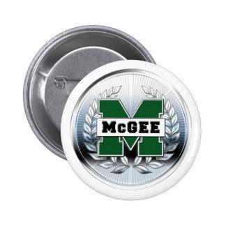 "Collegiate Style Metallic ""M"" Logo Pinback Button"