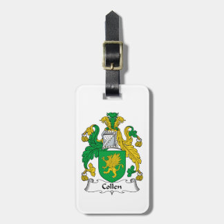 Collen Family Crest Tag For Bags