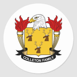 Colleton Family Crest Sticker