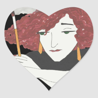 Collette Coquette Heart Sticker