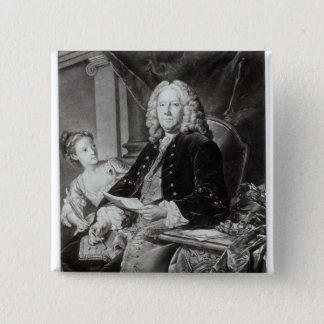 Colley Cibber  1758, engraved by Edward Fisher Pinback Button