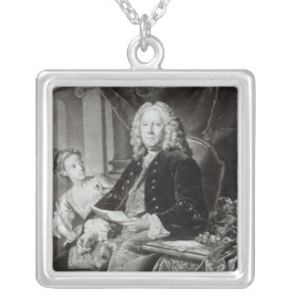 Colley Cibber  1758, engraved by Edward Fisher Silver Plated Necklace